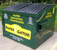 Paper Gator Collection Bin